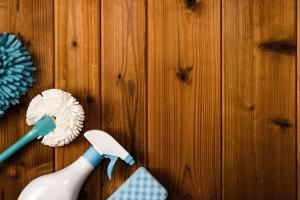 Środki czystości w użyciu