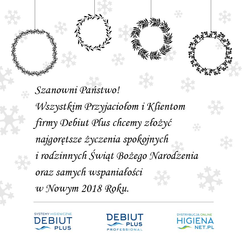 Wesołych Świąt Bożego Narodzenia życzy firma Debiut Plus